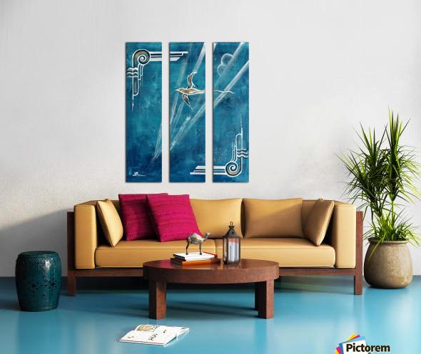 Art deco Swallow  Split Canvas print