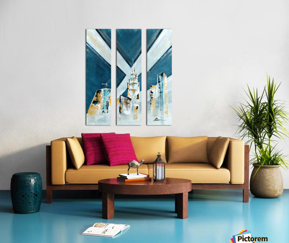Metropolis III Split Canvas print