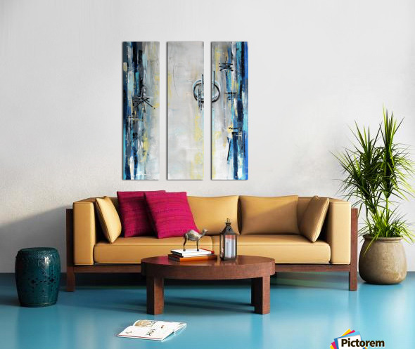 Art deco Moonshine V Split Canvas print