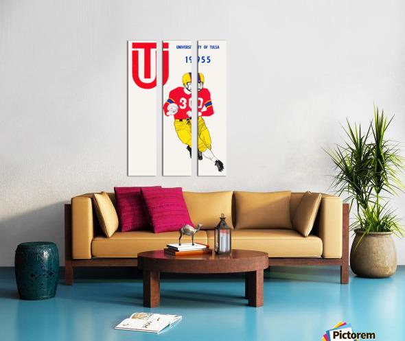1955 university of tulsa football poster Split Canvas print