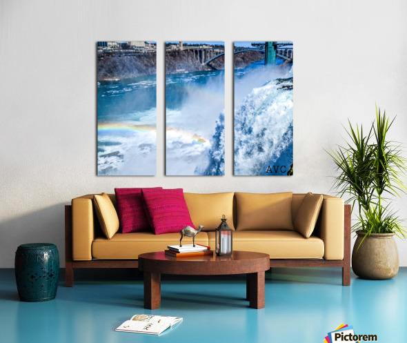Waterfall Rainbow Split Canvas print