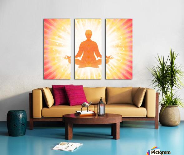 In Meditation - Be The Light Split Canvas print