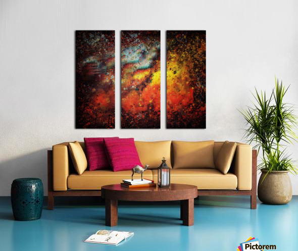 Untitled Abstract  Split Canvas print