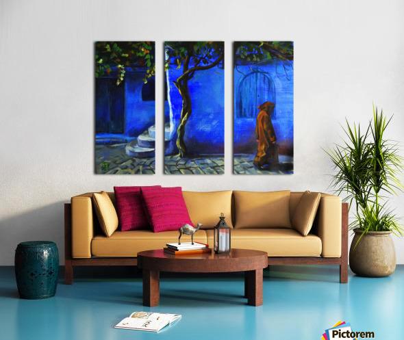 Blue city Split Canvas print