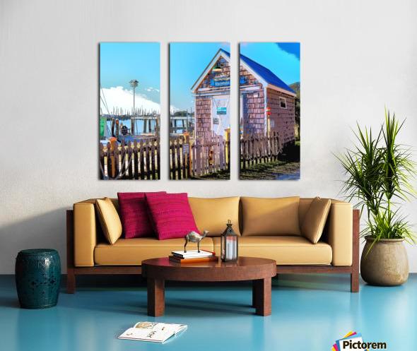 Yacht Basin boathouse Split Canvas print
