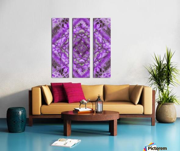 Purple Fractal Kaleidoscope Handdrawing Split Canvas print