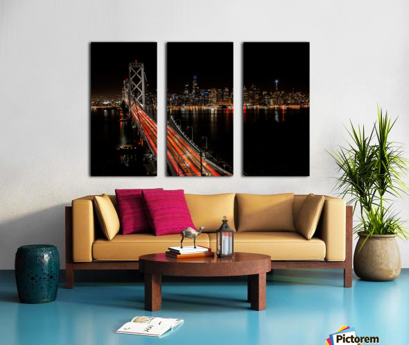 Sinner City Split Canvas print