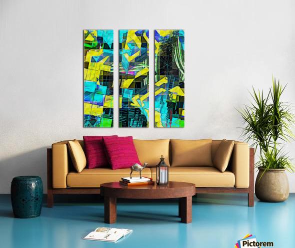 Hyperkaleidoscopically Split Canvas print