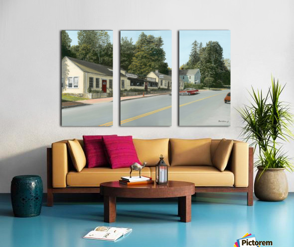 Sandy Hook Diner - Newtown Series 16 X 24  Split Canvas print
