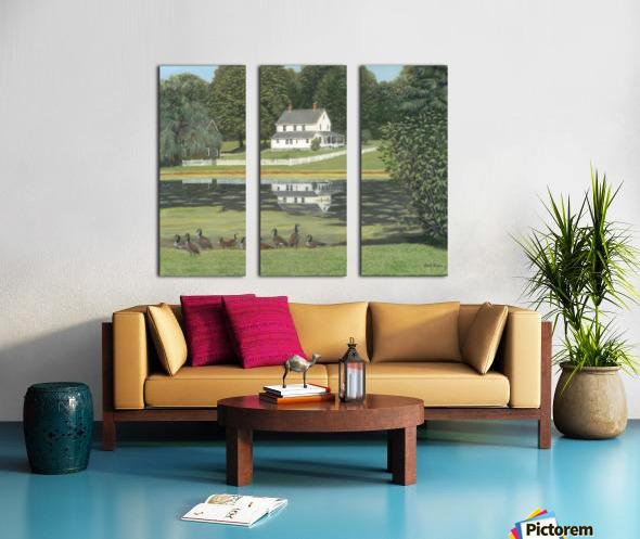 Geese at Hawley Pond - Newtown Series 16X20 Split Canvas print