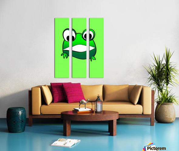cute little frog Split Canvas print