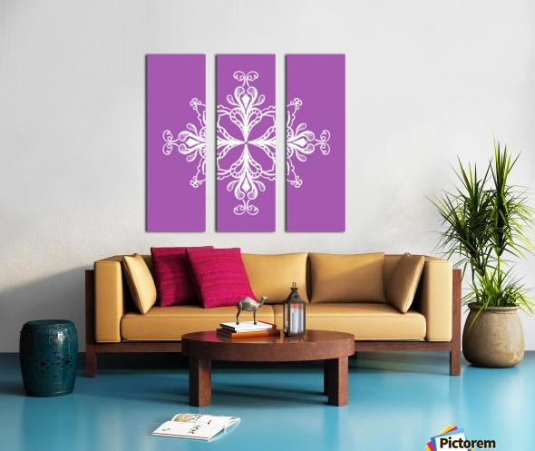 symmetrical doodle Split Canvas print