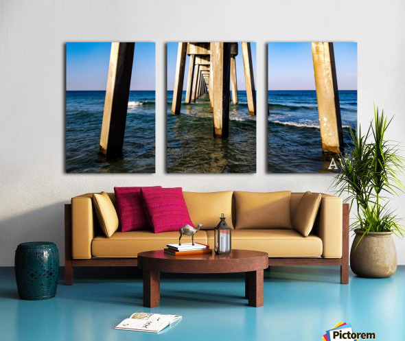 Good Morning Pier Split Canvas print