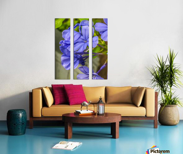 Purple Flowers Split Canvas print