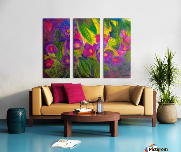 Purple Favorites Split Canvas print