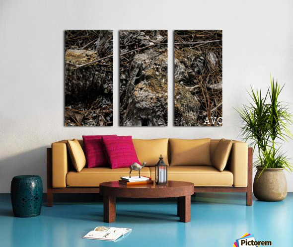 Camoflauge Creature Split Canvas print