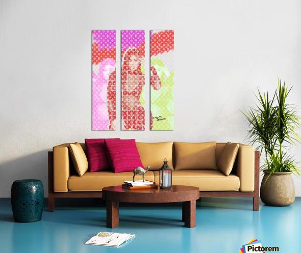Celebrity K Split Canvas print