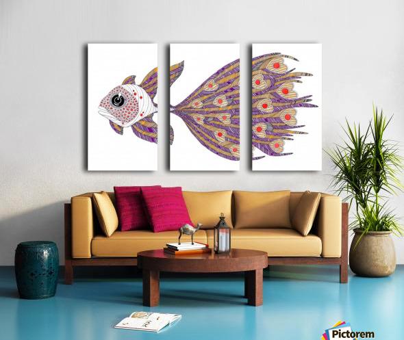 heart fish Split Canvas print