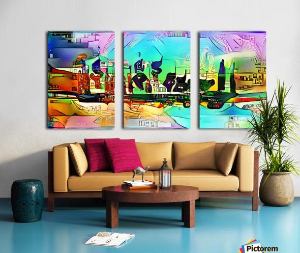 city5 ship Split Canvas print