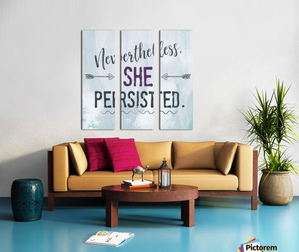 She Persisted Split Canvas print