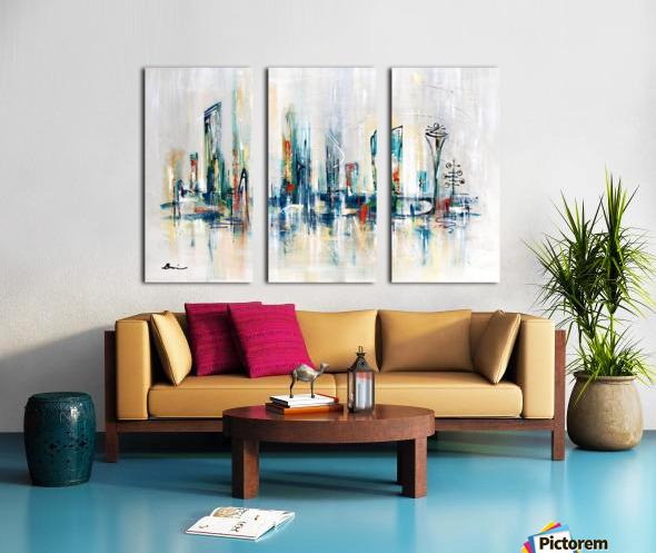 Uptown XXV Split Canvas print