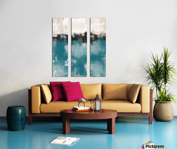 Blue Gray Black Abstract DAP 20013 Split Canvas print