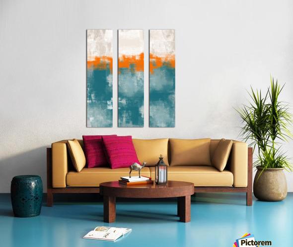 Blue Gray Orange Abstract DAP 20014 Split Canvas print