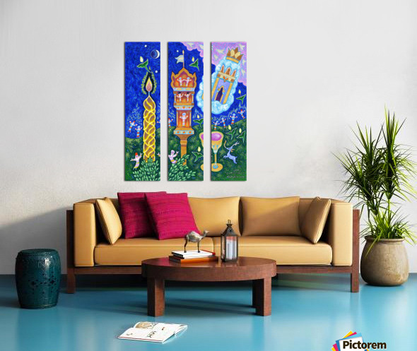 2019 047 Split Canvas print