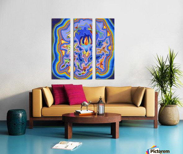 2020 014 Split Canvas print