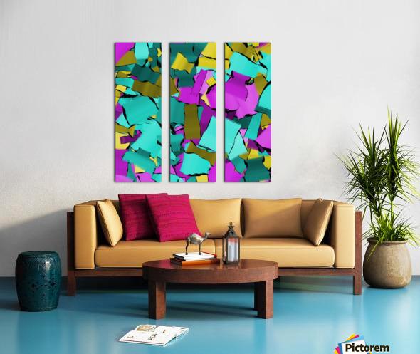 abstract flow art Split Canvas print