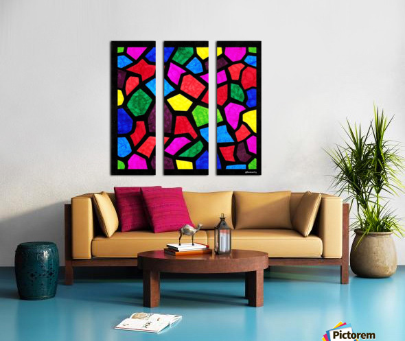 Stained Glass I Split Canvas print