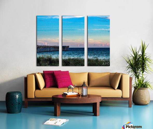 Sunset Beach Split Canvas print