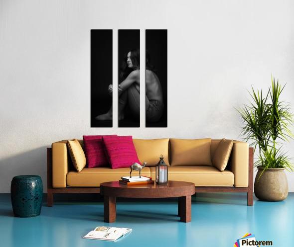 Black and White Woman Portrait 1 Split Canvas print