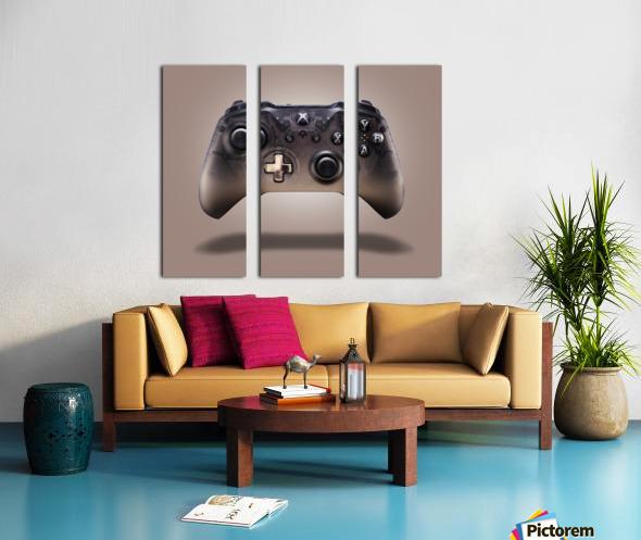 Gaming Controller v2 [extra large] Split Canvas print