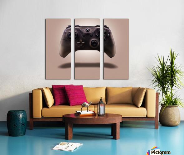 Gaming Controller v1 Split Canvas print