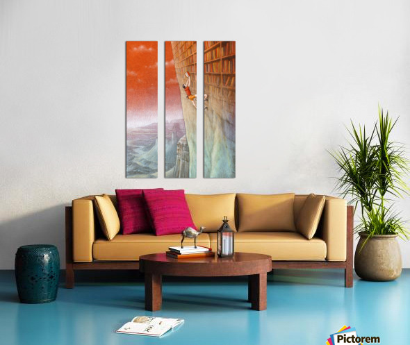climbing Split Canvas print