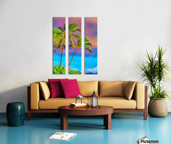 Palms Against The Sky Split Canvas print