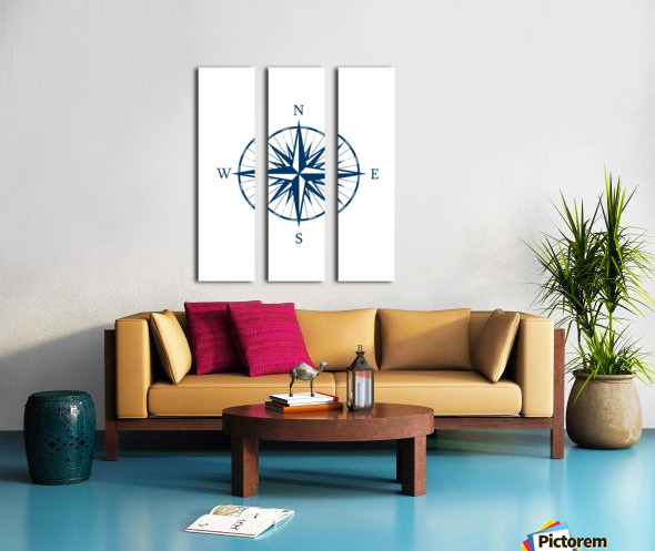 COMPASS ROSE Split Canvas print