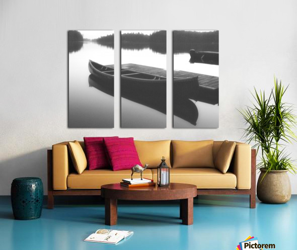 Tranquility BW Split Canvas print