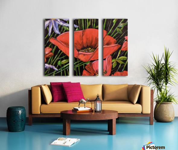 Folding Poppy Split Canvas print