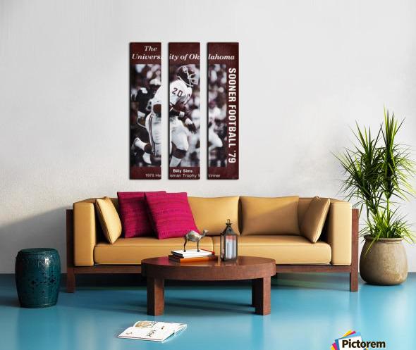 1979 billy sims oklahoma sooners football poster Split Canvas print