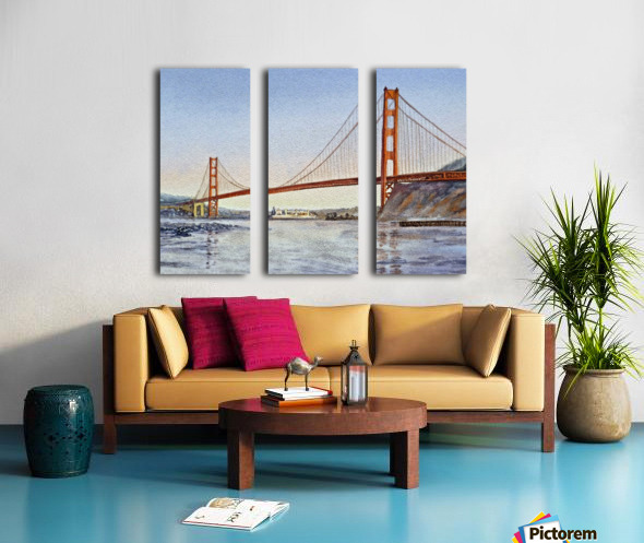 San Francisco California Golden Gate Bridge Split Canvas print