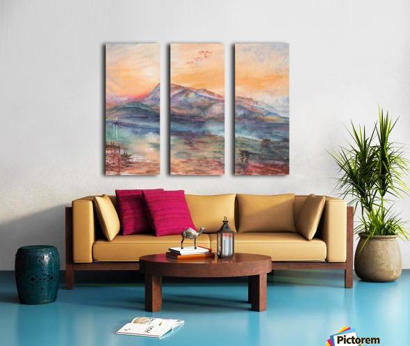 Mount Rigi Switzerland Lake Split Canvas print