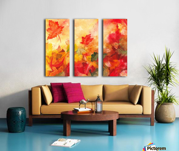 Autumn leaves Serenade  Split Canvas print