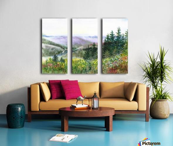 Landscape With Redwood Creek  Split Canvas print