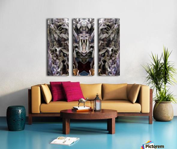 KUNG FU Split Canvas print