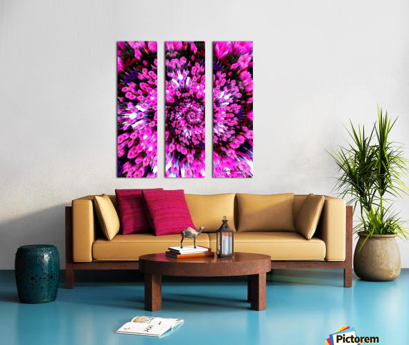 Getting Lost in Pink Split Canvas print