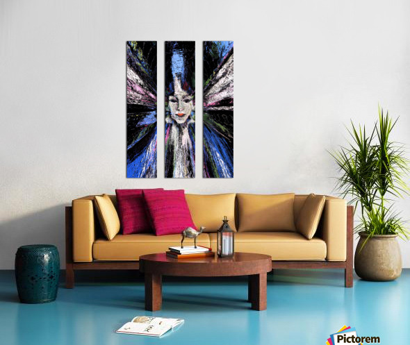 Looking inside out Split Canvas print