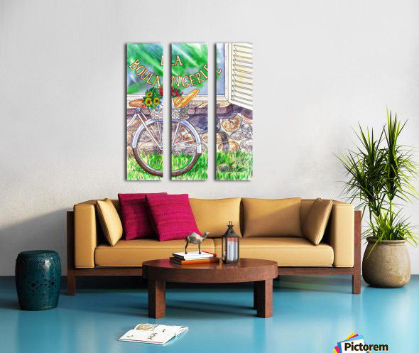 At The French Bakery  Split Canvas print