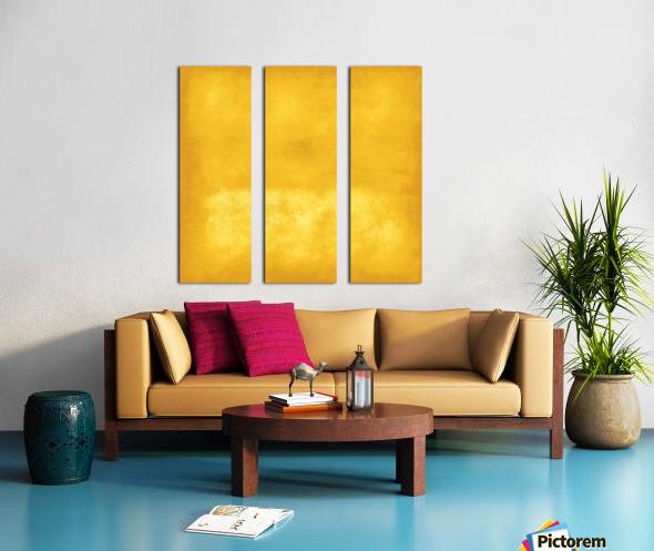 Yellow 44 Split Canvas print
